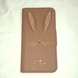 Kate Spade tan bunny iPhone case